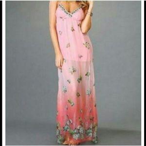 Beach Bunny Maxi long pink dress nwt
